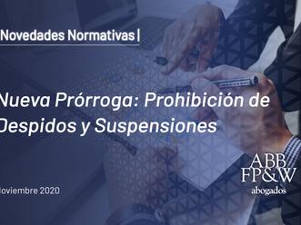 Nueva Prórroga: Prohibición de despidos y suspensiones