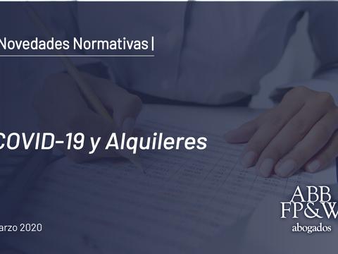 Decreto 320/2020: COVID-19 y Alquileres