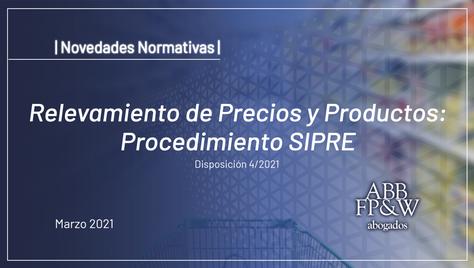 Relevamiento de Precios y Productos: Procedimiento SIPRE