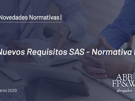 RG 09/2020 IGJ – Nuevos Requisitos SAS
