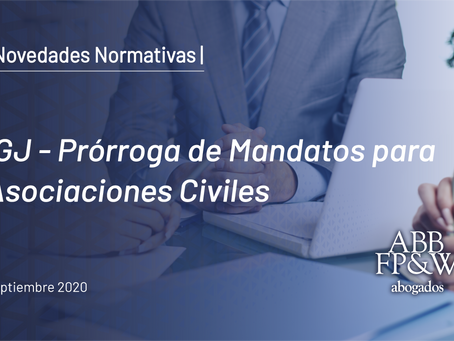 IGJ – Prórroga de Mandatos para Asociaciones Civiles