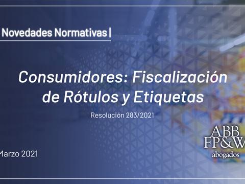 Consumidores: Fiscalización de Rótulos y Etiquetas