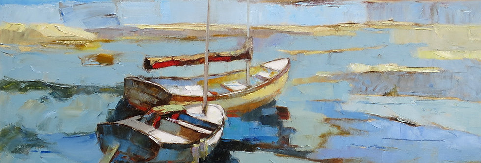 Floating Two Boats