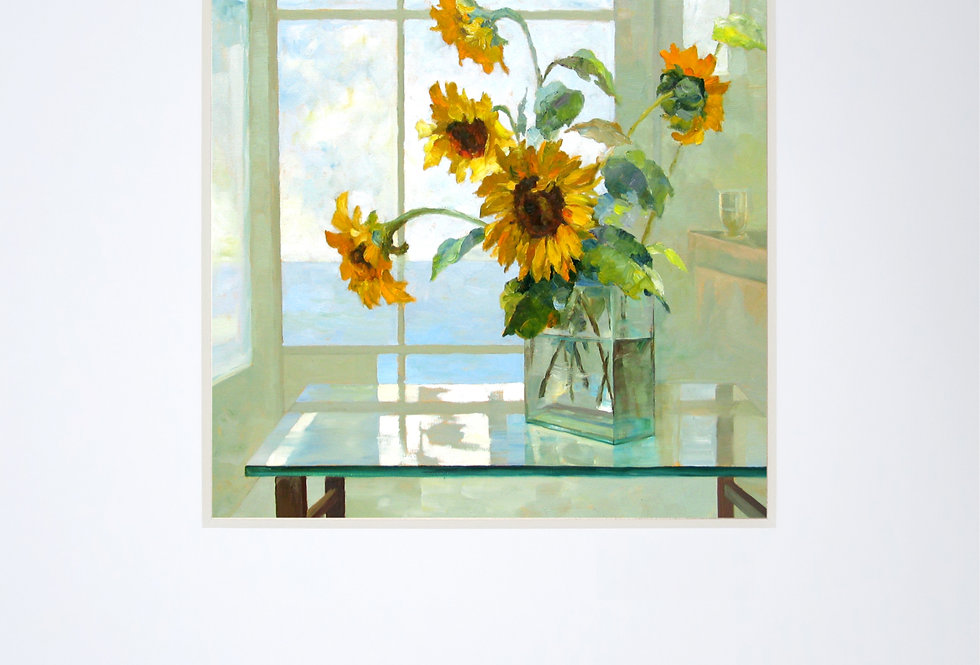 Sunflowers on the Glass