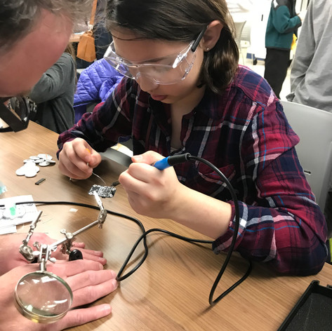 Soldering at Makers Day