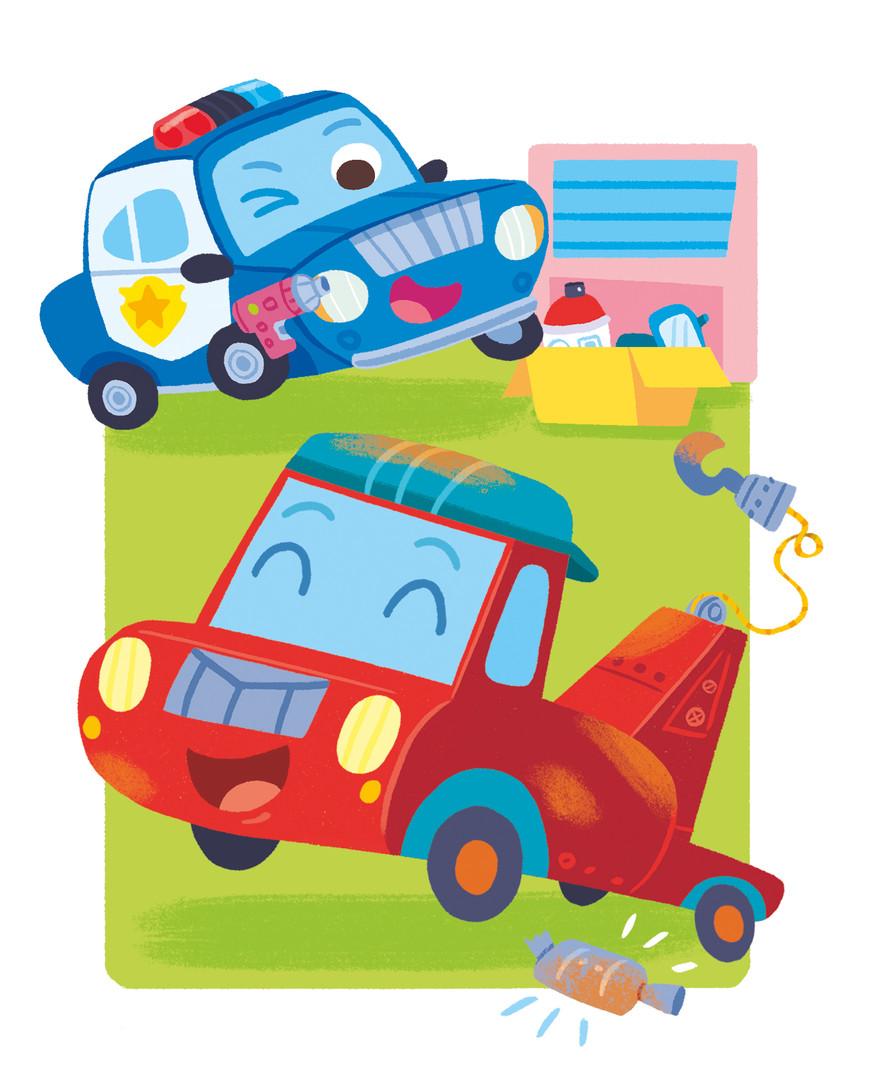 Gabriele Tafuni illustration focus car truck