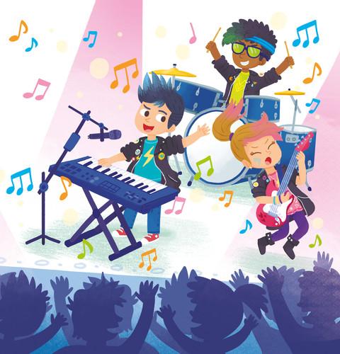 Gabriele Tafuni illustration kids music family