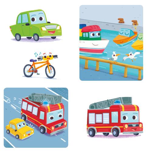 Gabriele Tafuni illustration cars truck plane