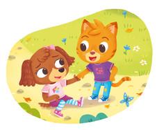 Gabriele Tafuni illustration kitten animals