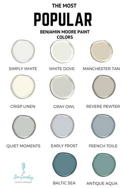 Our Favorite Ben Moore Paint Colors!