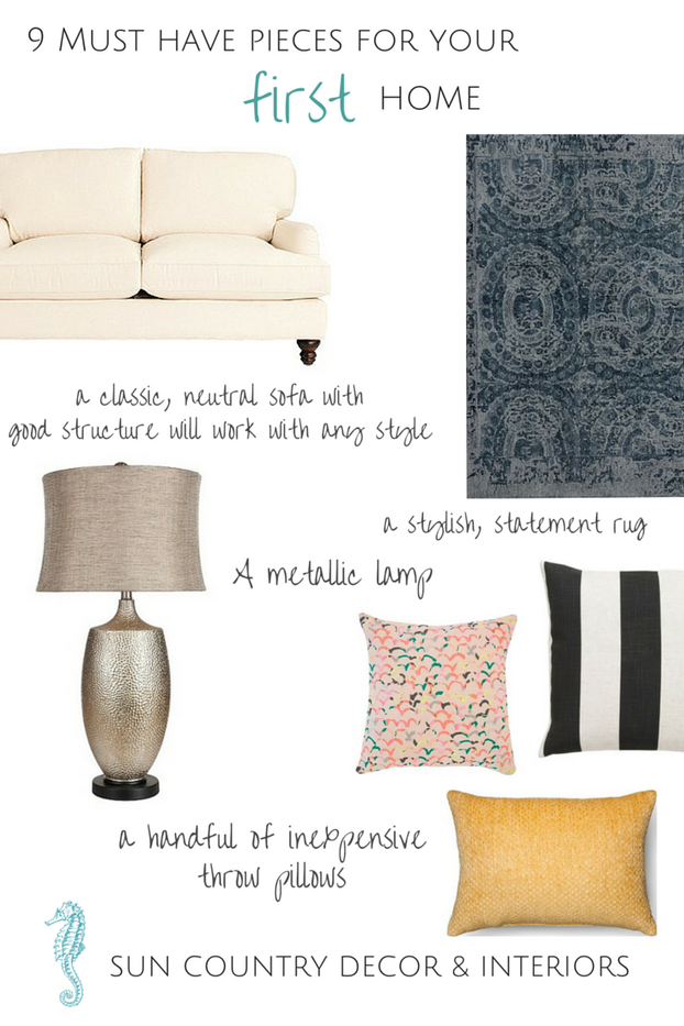 9 Must Have Pieces for Your First Home