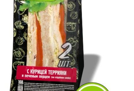 Сендвич с курицей террияки