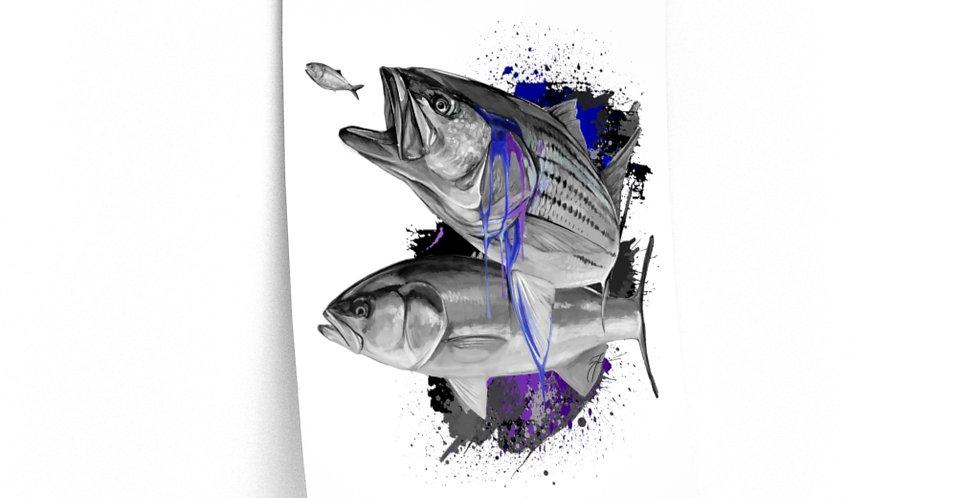 Premium Matte Poster - Drip Series (NE Inshore)