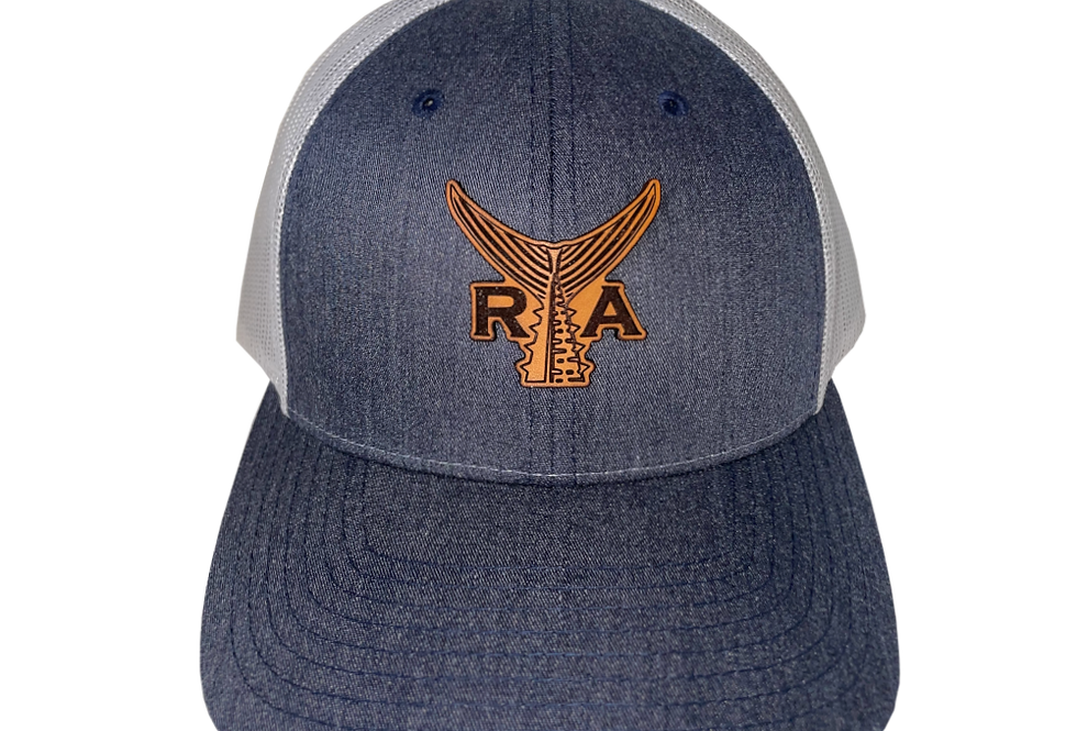 Classic Snapback (Heather Navy/Brown Leather)