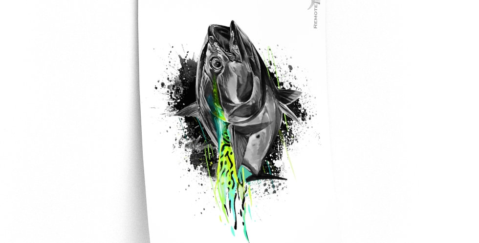 Premium Matte Poster - Drip Series (False Albacore)