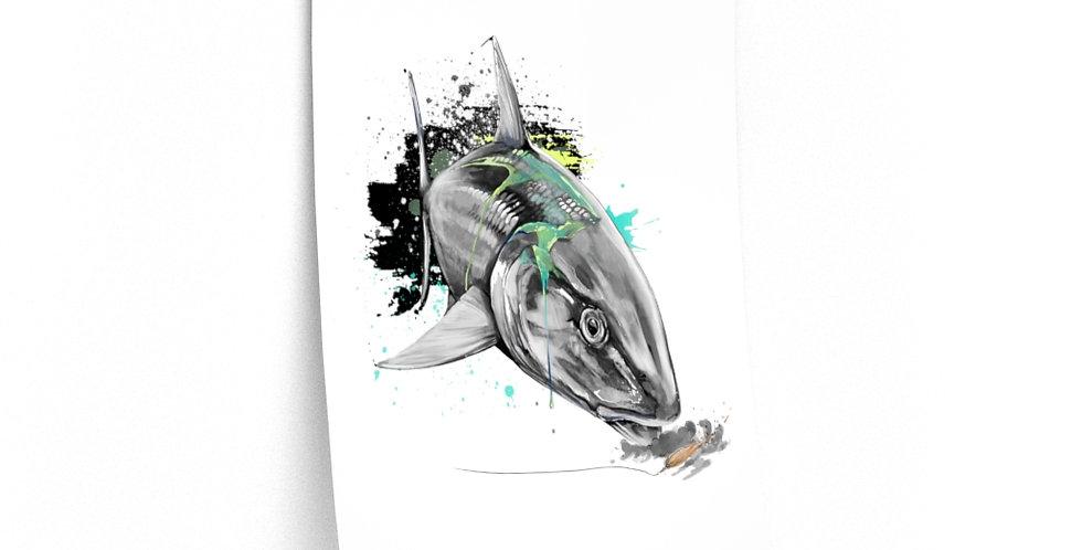 Premium Matte Poster - Drip Series (Bonefish)