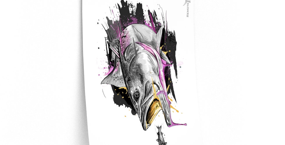 Premium Matte Poster - Drip Series (Weakfish)