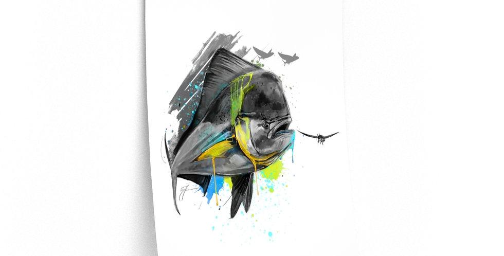 Premium Matte Poster - Drip Series (Mahi)