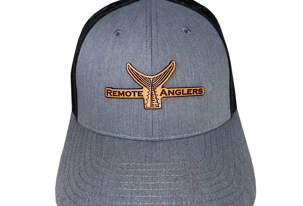 Classic Snapback (Heather Grey/Brown Leather)