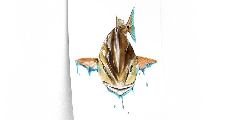 Premium Matte Poster - Artist Series (Red Fish)
