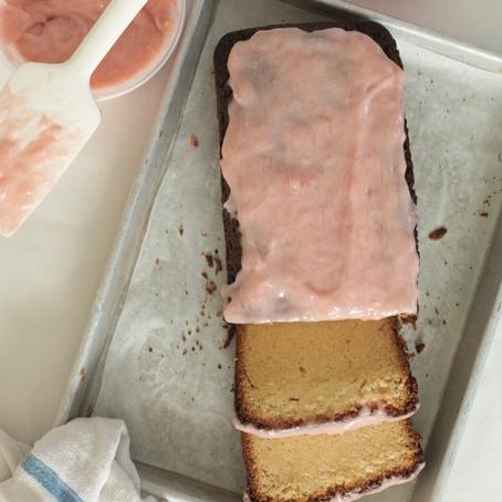 Rhubarb-Elderflower Pound Cake