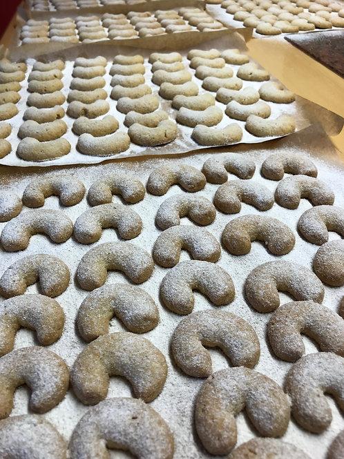 Landeinkauf Weihnachtsbäckerei - Vanillekipferl 5x100 g. - Kekse, Gebäck