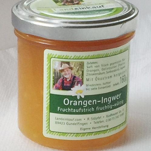 Orangen-Ingwer Fruchtaufstrich - 150 g