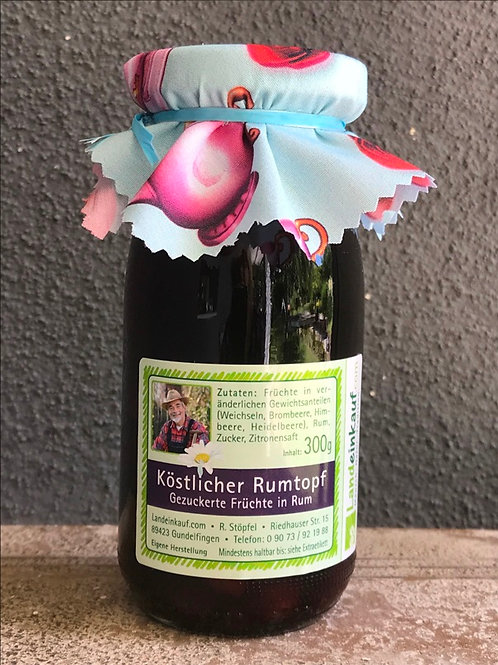 Landeinkauf Köstlicher Rumtopf - Schwäbische Weinweichseln in Rum - 300 g