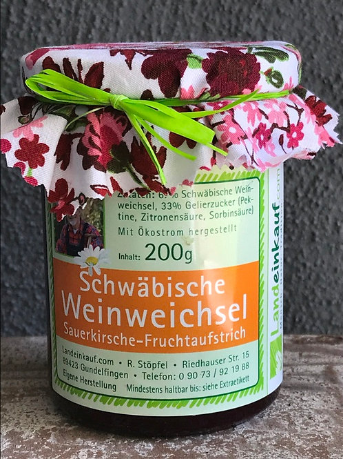 Landeinkauf Schwäbische Weinweichsel Fruchtaufstrich - 200 g