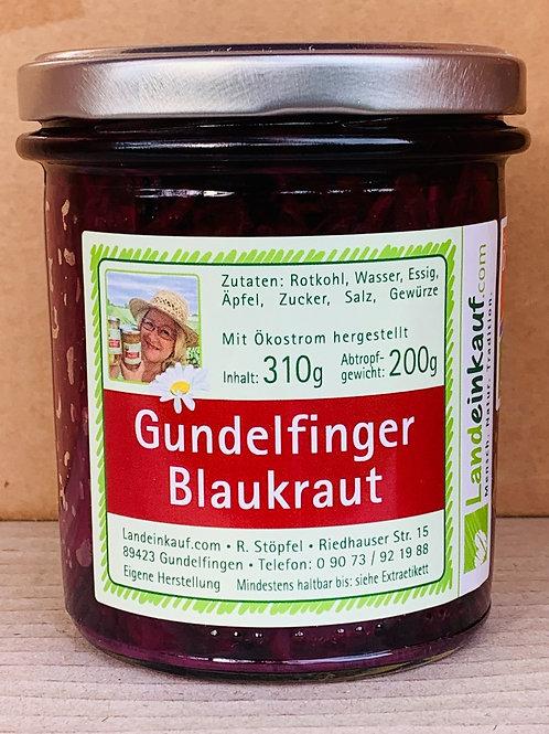 Gundelfinger Blaukraut Tafelfertig im Glas - 310g