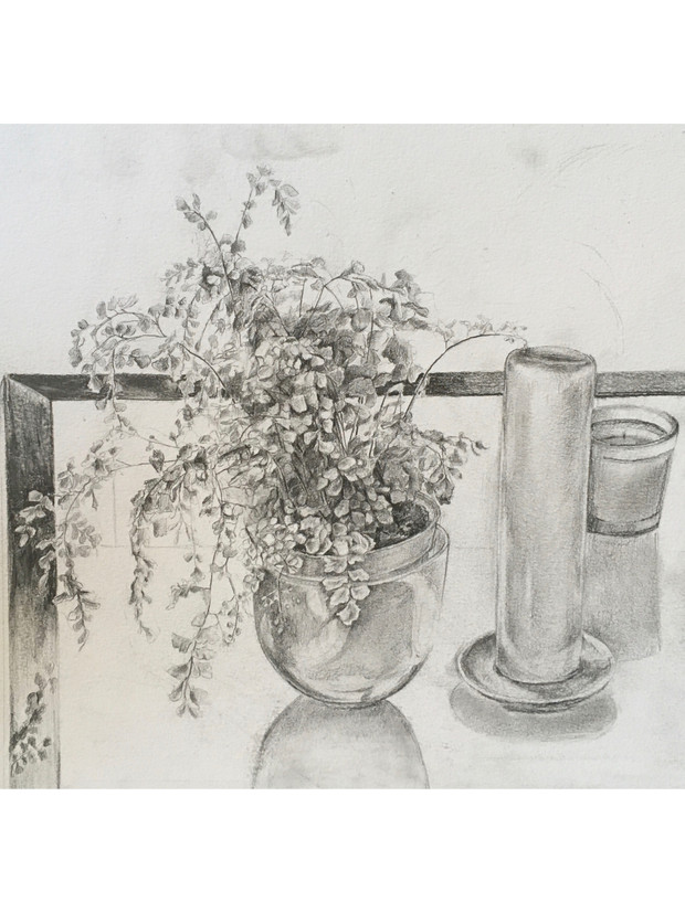 Still life with candles
