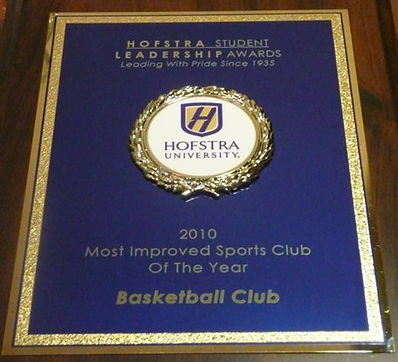 2010 Hofstra University Student Leadership Award - Most Improved Sports Club