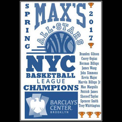 Spring 2017 NYC Basketball League Championship Banner