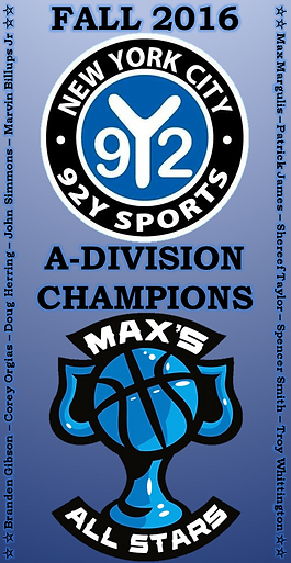 Fall 2016 92Y A-Division Championship Banner