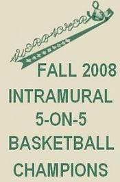 Fall 2008 Hofstra Intramural 5v5 Basketball Championship Banner