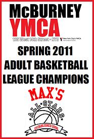 Spring 2011 McBurney YMCA Championship Banner