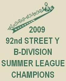 Summer 2009 92Y B-Division Championship Banner