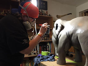 Airbrushing an elephant LEAP