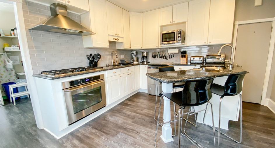 A shared kitchen space