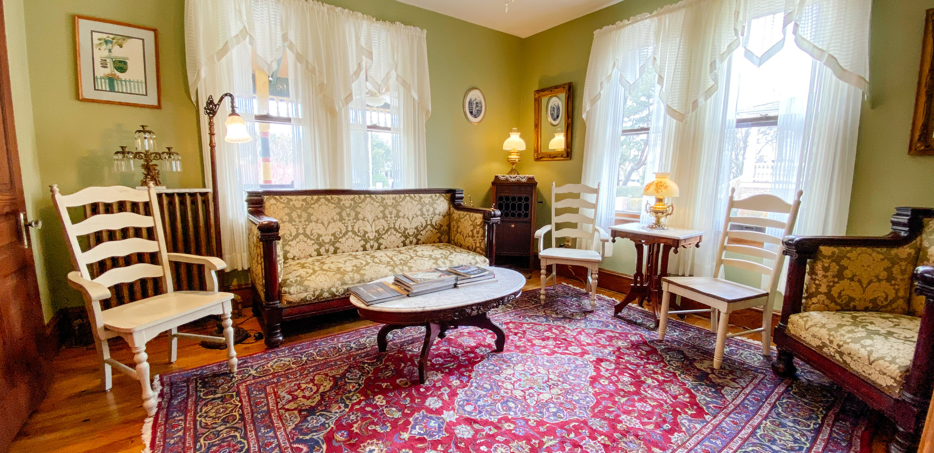 Our Victorian sitting room is a great spot to meet guests