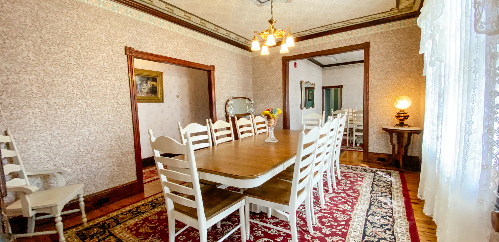 Two large dining rooms