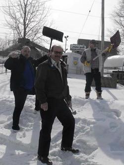 Shovel putt Winter