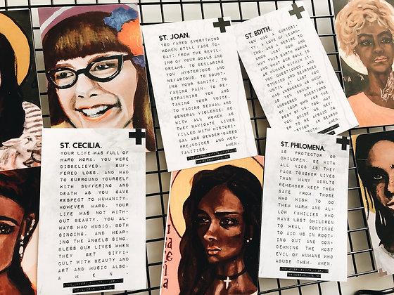 Female Martyrs Pack of 10 Prayer Cards