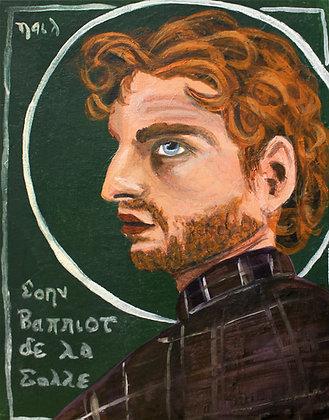 "St. John Baptist de la Salle 8x10"" print"