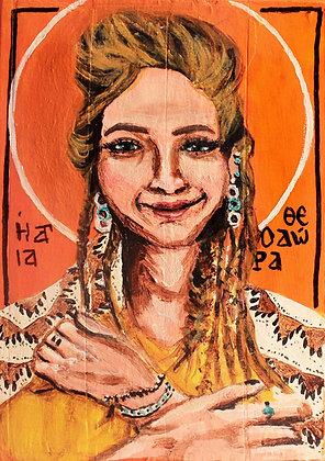 St. Theodora Prayer Card