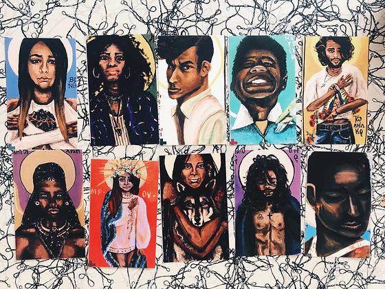 Saints of Color Pack of 10 Prayer Cards