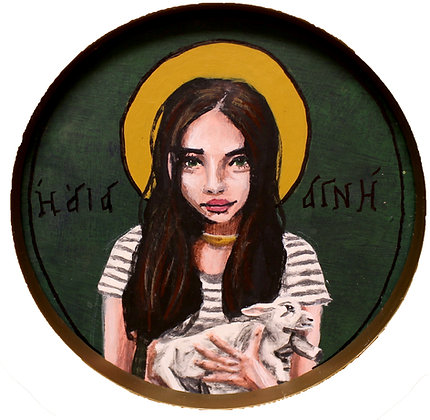 St. Agnes 5x7 print