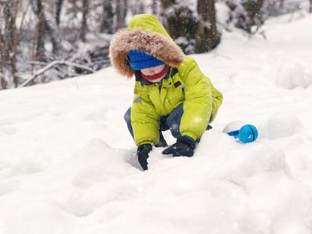 Forget About A Snow Man, Build a Snow Caterpillar