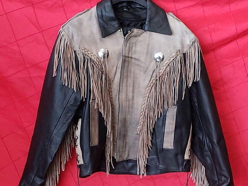 Men's to tone fringe jacket