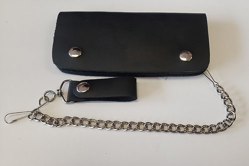 "Leather 7"" chain wallet"
